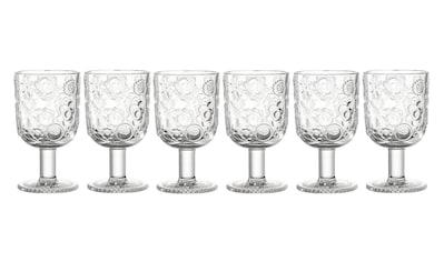 LEONARDO Glas »Leonardo Trinkglas Fiorita 330 ml,«, (6 tlg.), 6 teilig fröhliches Muster kaufen