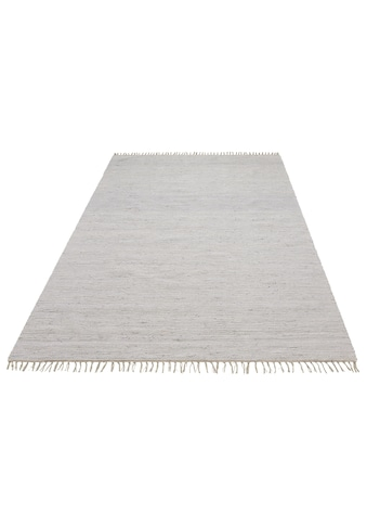 Lüttenhütt Teppich »Paul«, rechteckig, 5 mm Höhe, handgewebt, beidseitig verwendbar, mit Fransen, Wohnzimmer kaufen