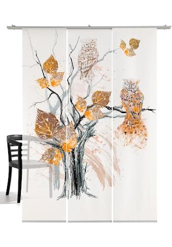 emotion textiles Schiebegardine »Eule«, HxB: 260x60, mit Befestigungszubehör kaufen