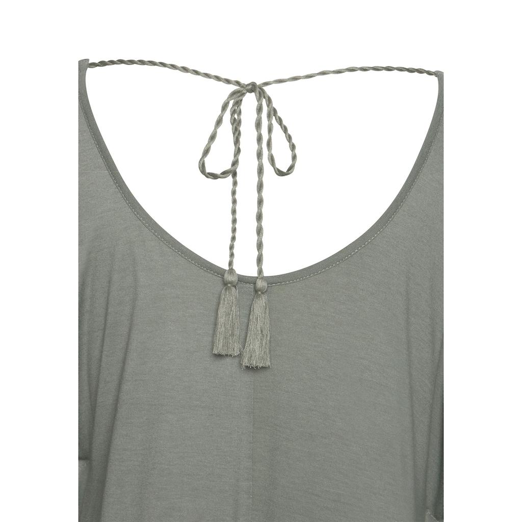 LASCANA Strandshirt, mit Zierband im oberen Rücken
