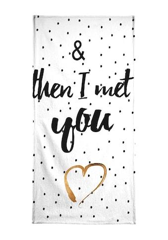 """Handtuch """"Met You"""", Juniqe kaufen"""