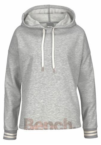 Bench. Kapuzensweatshirt, mit gestreiftem Bund und Glanzprint kaufen