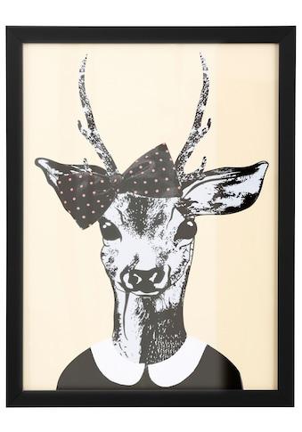 Home affaire Kunstdruck »Reh - Frau in Spaziergang - Kleidung« kaufen