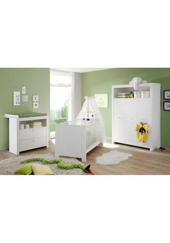 Babyzimmer-Komplettset »Trend«, (Set, 3 tlg.), Bett + Wickelkommode + 3 trg. Schrank kaufen