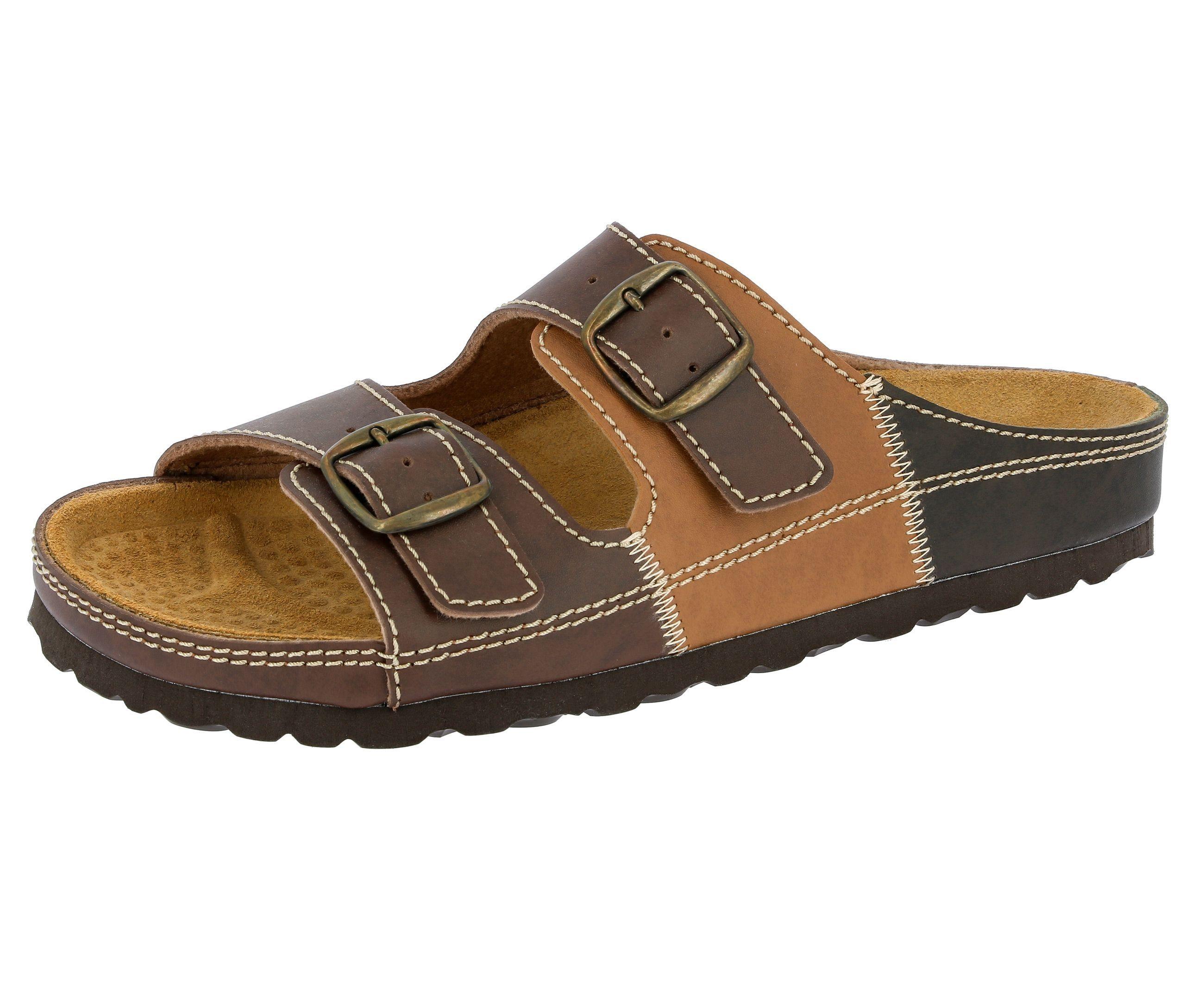 Pantolette mit Kork-Fußbett NATURAL MAN LICO braun 39,41,42,43,44,45,46
