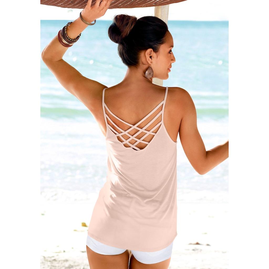 LASCANA Strandtop, mit gekreuzten Bändern
