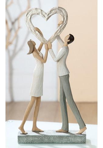 GILDE Dekofigur »Skulptur Liebespaar Herz Triumph«, Dekoobjekt, Höhe 31 cm,... kaufen
