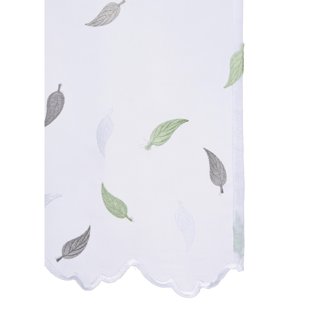 Home affaire Scheibengardine »Blätter«, mit Stickerei