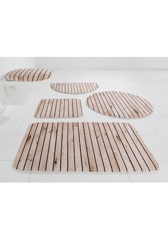my home Badematte »Holzoptik«, Höhe 14 mm, rutschhemmend beschichtet-Memory Schaum kaufen