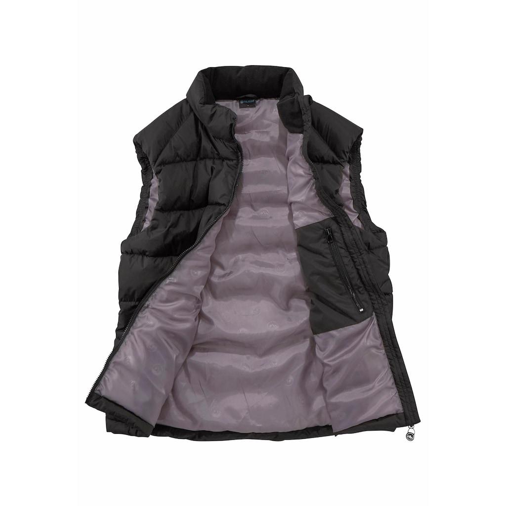 Polarino Steppweste, mit Reissverschlusstaschen und Innentasche