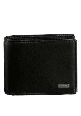 GreenLand Nature Geldbörse »Black Nappa«, aus Leder, mit RFID Ausstattung kaufen