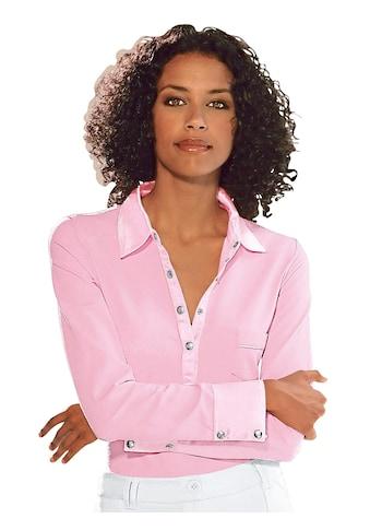 Classic Inspirationen Shirt mit Satin am Kragen kaufen