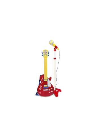 Spielzeug-Musikinstrument »Rockgitarre mit Standmikrofon Rot« kaufen