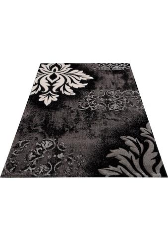 merinos Teppich »DORDOGNE«, rechteckig, 13 mm Höhe, handgearbeiteter Konturenschnitt, Wohnzimmer kaufen