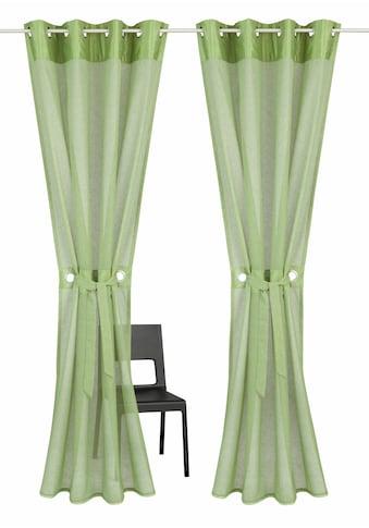 Gardine, »Willowa«, Home affaire, Ösen 2 Stück kaufen