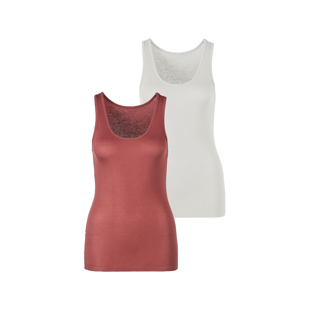 s.Oliver Bodywear Tanktop, (2er-Pack), aus besonders weicher Ripp-Qualität