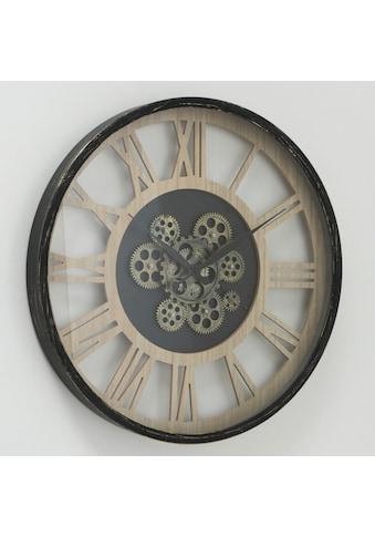 my home Wanduhr »Takto«, XXL, rund, Ø 57 cm, Eisen, römische Ziffern kaufen