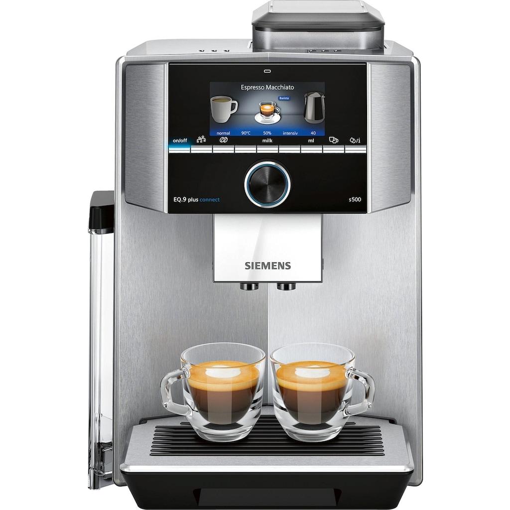 SIEMENS Kaffeevollautomat »EQ.9 plus connect s500, TI9558X1DE«