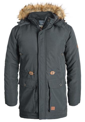Blend Parka »Polygro«, warme Jacke mit abnehmbarer Kapuze und Kunstfellkragen kaufen