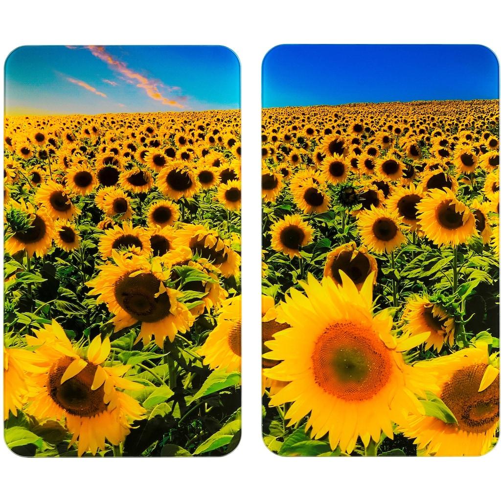 WENKO Herd-Abdeckplatte »Universal Sonnenblumenfeld«