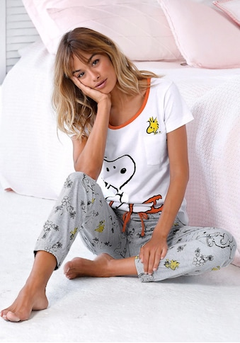 Peanuts Pyjama, mit Snoopy und Woodstock Druck kaufen
