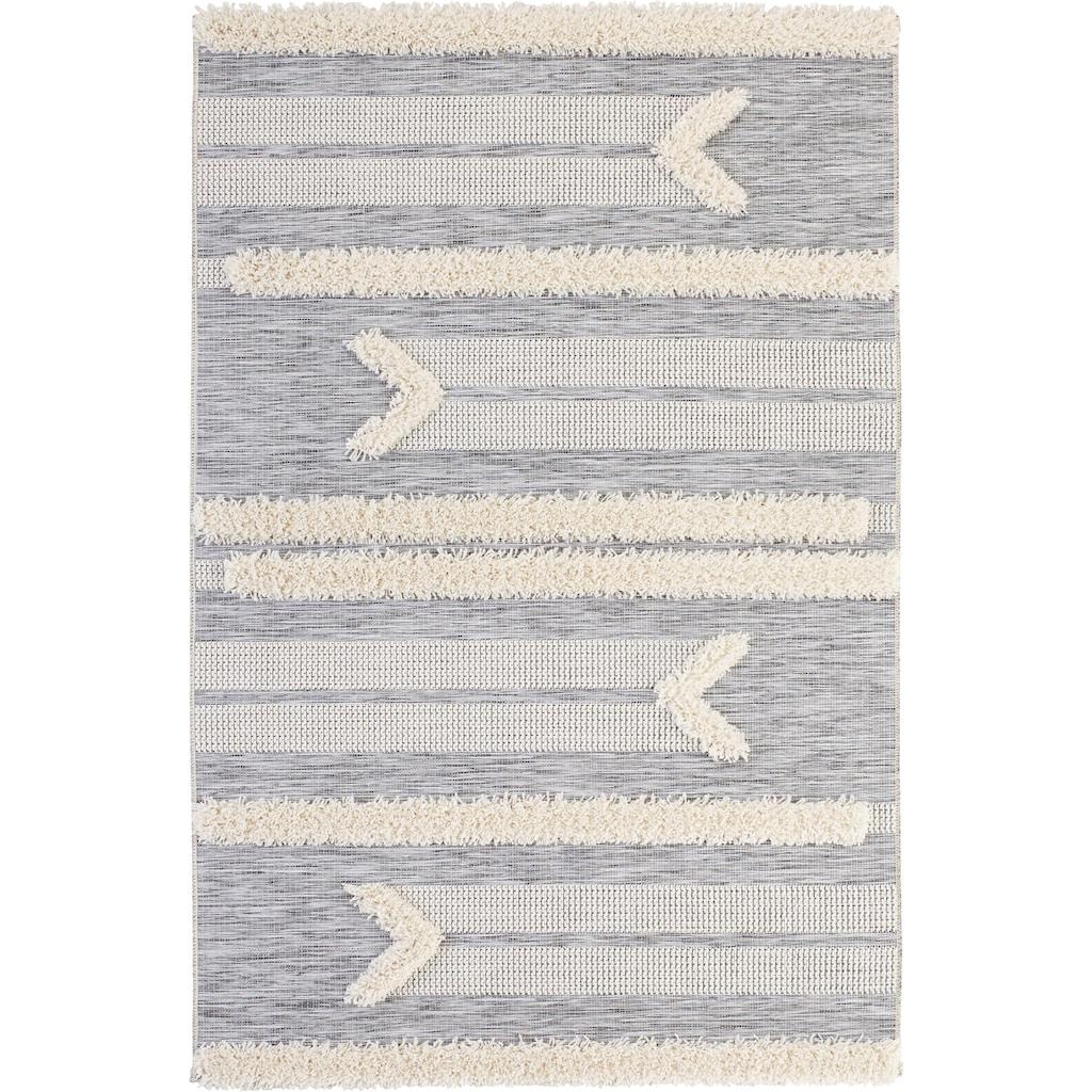 MINT RUGS Teppich »Kantina«, rechteckig, 35 mm Höhe, In- und Outdoor geeignet, Hoch-Tief-Struktur, Wohnzimmer