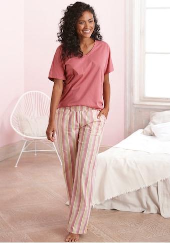Vivance Dreams Pyjama, in legerem Schnitt mit Längsstreifen kaufen