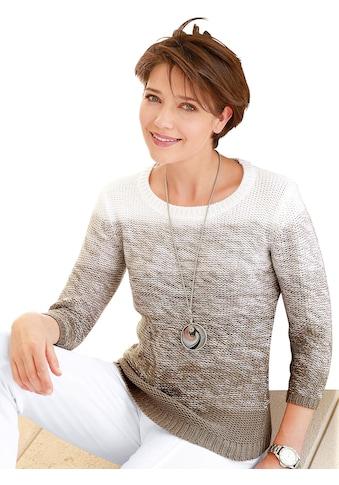 Casual Looks Pullover mit harmonischen Farbverlauf kaufen