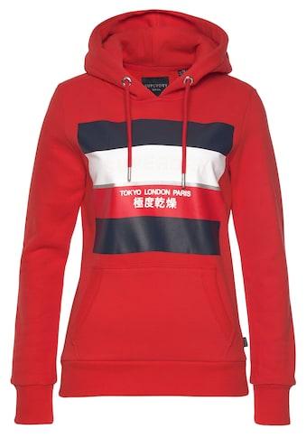 Superdry Kapuzensweatshirt »STRIPE BLOCK ENTRY HOOD« kaufen
