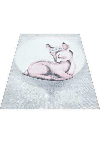 Ayyildiz Kinderteppich »Bambi 850«, rechteckig, 11 mm Höhe, Rehkitz Motiv, Kurzflor kaufen