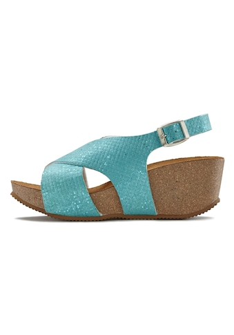 LASCANA Sandalette, mit Keilabsatz und Korkfussbett kaufen