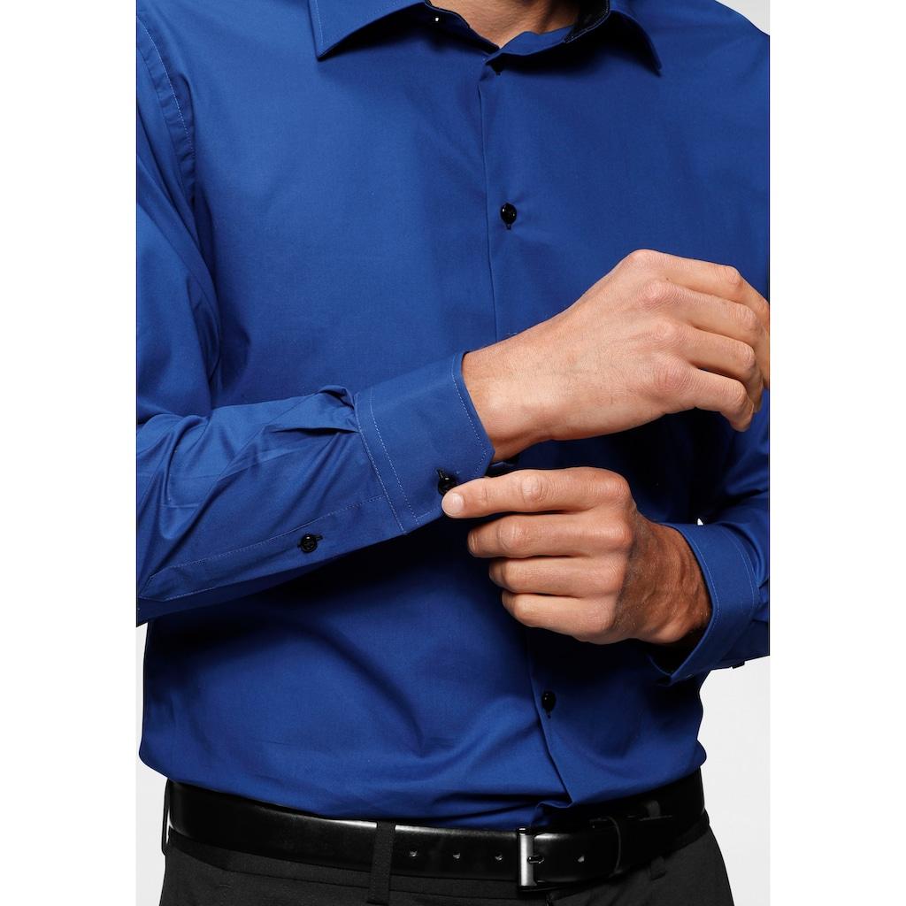 Bruno Banani Businesshemd, Kontrastbesatz