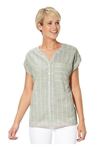 Casual Looks Bluse in leicht melierter Leinen - Optik kaufen