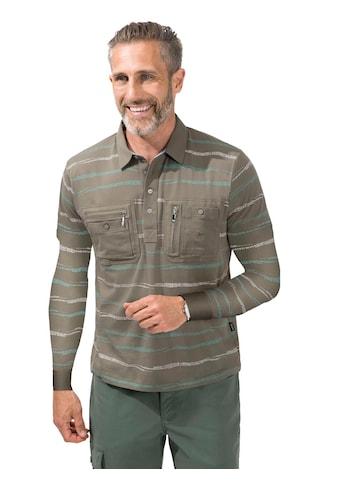 Hajo Langarm - Poloshirt im markanten Streifen - Muster kaufen