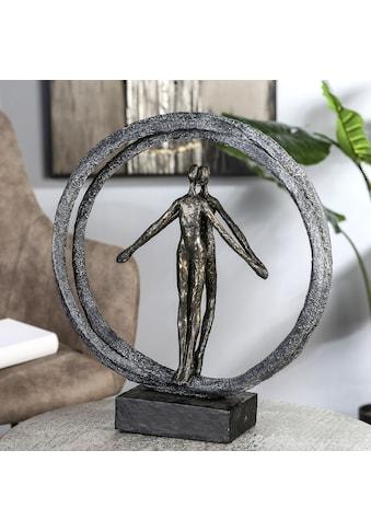 Casablanca by Gilde Dekofigur »Skulptur Paar im Ring, bronzefarben/schwarz«,... kaufen