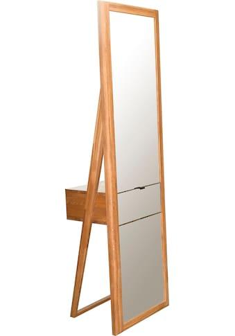 andas Ganzkörperspiegel »Scandi«, aus massivem Eichenholz, mit einer Schublade, Breite... kaufen