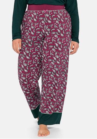 Sheego Pyjamahose, mit Paisleyprint und Kontrastsaum kaufen