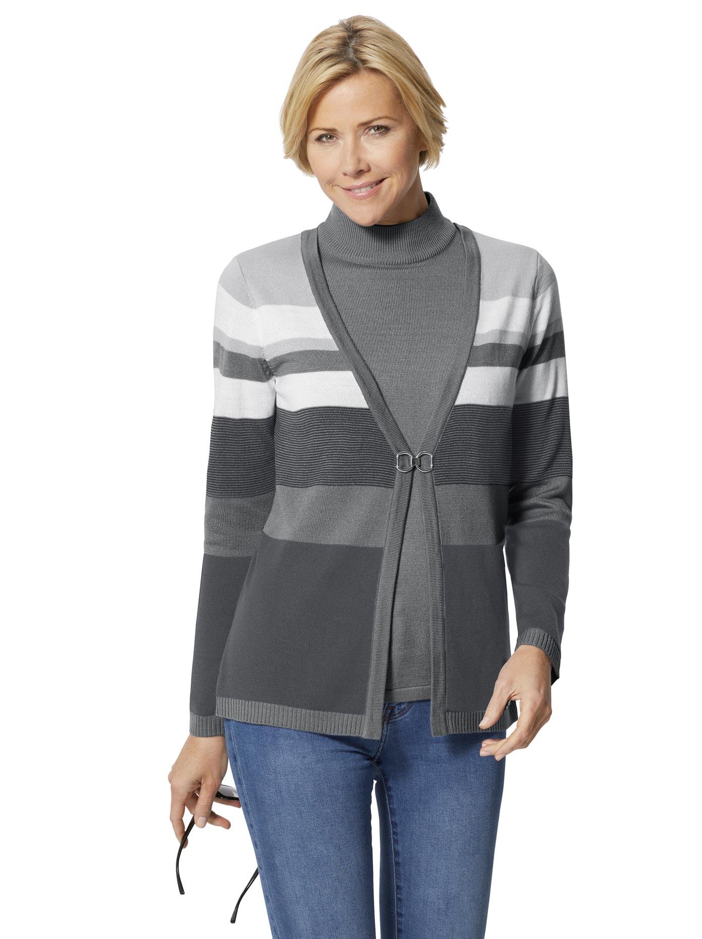 Image of Casual Looks Pullover in gepflegter 2-in-1-Optik