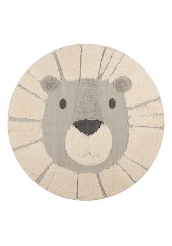 Zala Living Kinderteppich »Lion Lucky«, rund, 22 mm Höhe, Hoch-Tief-Struktur,... kaufen