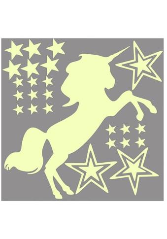 Wall-Art Wandtattoo »Leuchtsticker Einhorn Pferde« kaufen