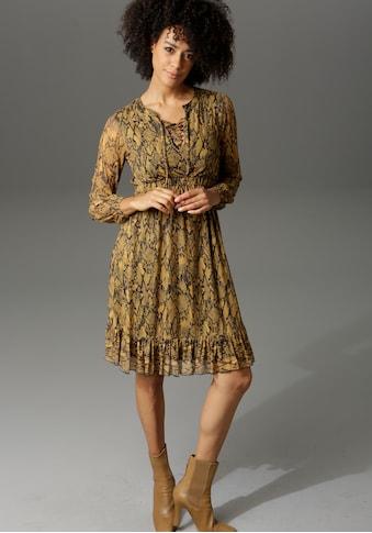 Aniston CASUAL Partykleid, in Schlangenoptik oder grafischem Alloverdruck kaufen