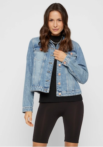 pieces Jeansjacke »PCLOU«, in leichter Used-Waschung kaufen