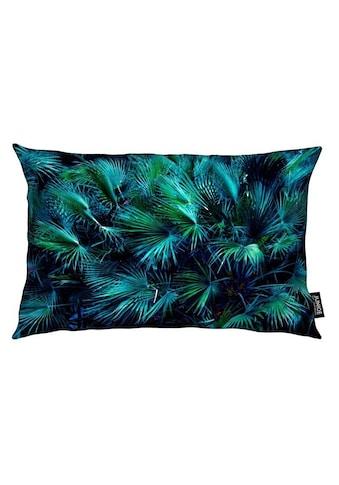 Juniqe Dekokissen »Amoung the Palm Leaves«, Weiches, allergikerfreundliches Material kaufen