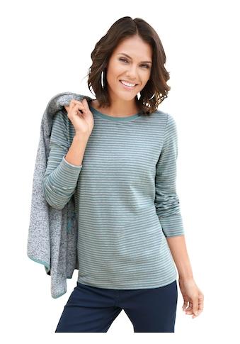 Casual Looks Shirt im garngefärbten Melange - Ringel kaufen