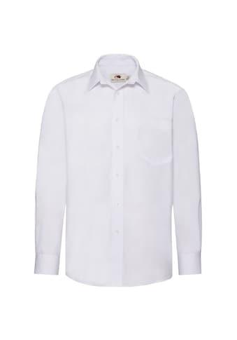 Fruit of the Loom Businesshemd »Poplin Hemd für Männer, langarm« kaufen