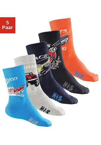 H.I.S Socken, (5 Paar), mit Automotiven kaufen