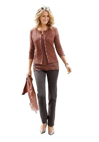 Ambria Shirtjacke mit Knöpfen in Metall -  und Perlmutt - Optik kaufen