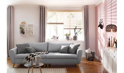 Home affaire Big-Sofa »Penelope«, feine Steppung, lose Kissen, skandinavisches Design kaufen