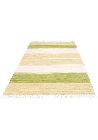 Home affaire Teppich »Merle«, rechteckig, 5 mm Höhe, Flachgewebe, handgewebt,... kaufen