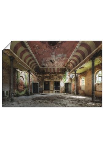 Artland Wandbild »Verlassener Ort - Ballsaal«, Gebäude, (1 St.), in vielen Grössen &... kaufen
